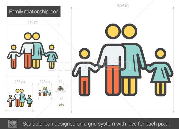 Stock photo: Family relationship line icon.