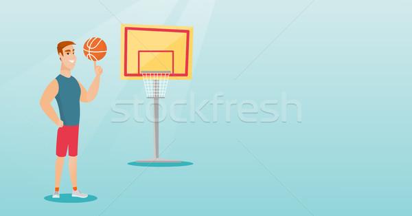 Сток-фото: молодые · кавказский · мяча · пальца · профессиональных