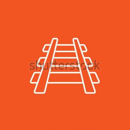 Ferrocarril tema boceto icono vector aislado Foto stock © RAStudio