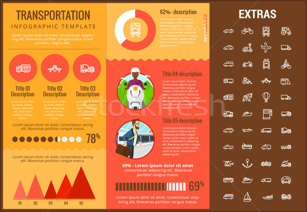 Transportation infographic template and elements. Stock photo © RAStudio