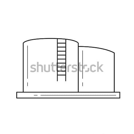воды водохранилище линия икона вектора изолированный Сток-фото © RAStudio