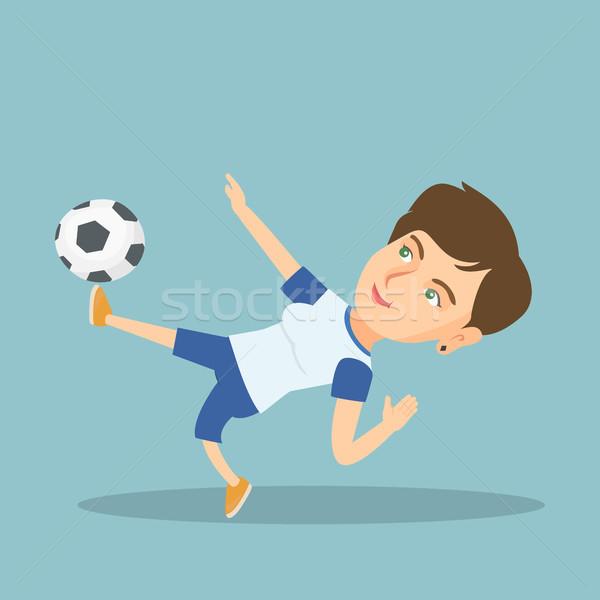 Jóvenes caucásico futbolista pelota juego Foto stock © RAStudio