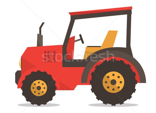 Tractor vector illustration. Stock photo © RAStudio