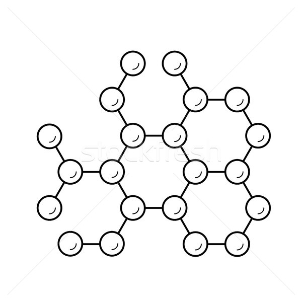 Molecule structure line icon. Stock photo © RAStudio