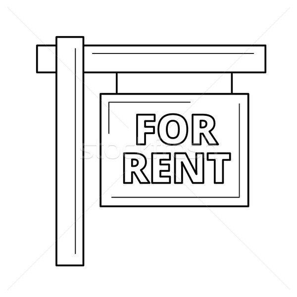 For rent sign line icon. Stock photo © RAStudio