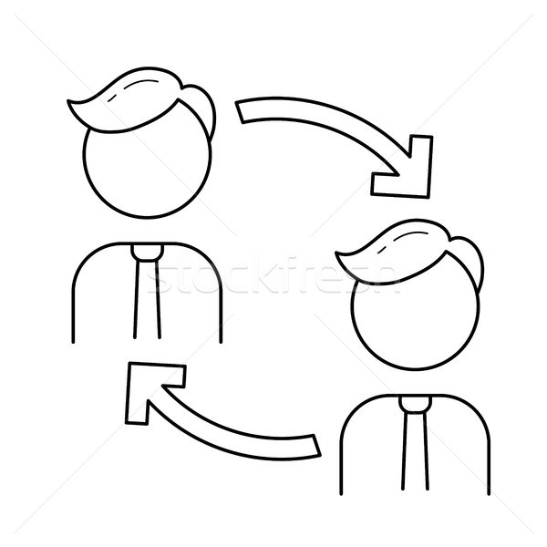 Staff turnover vector line icon. Stock photo © RAStudio