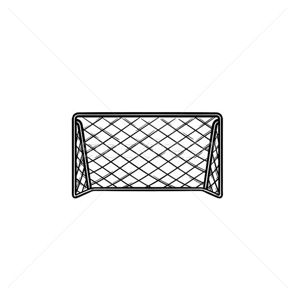 Soccer goal hand drawn outline doodle icon. Stock photo © RAStudio