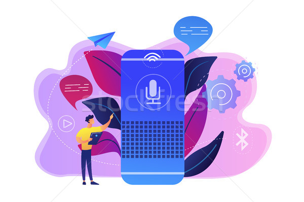 Smart speaker concept vector illustration. Stock photo © RAStudio
