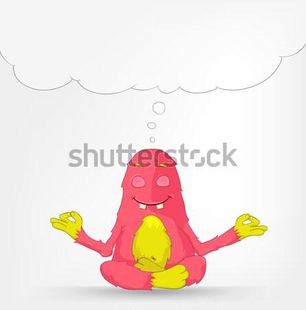 Vicces szörny választás rajzfilmfigura izolált szürke Stock fotó © RAStudio