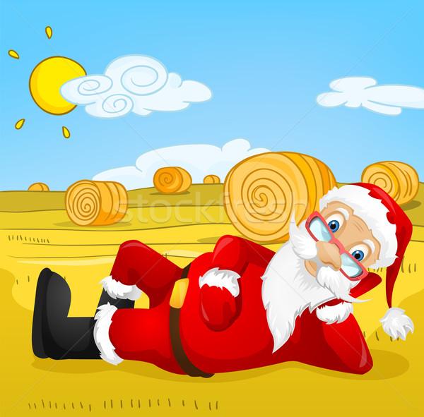 Kerstman vector eps 10 hemel Stockfoto © RAStudio