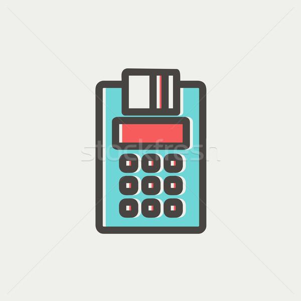 Credit Card Machine thin line icon Stock photo © RAStudio