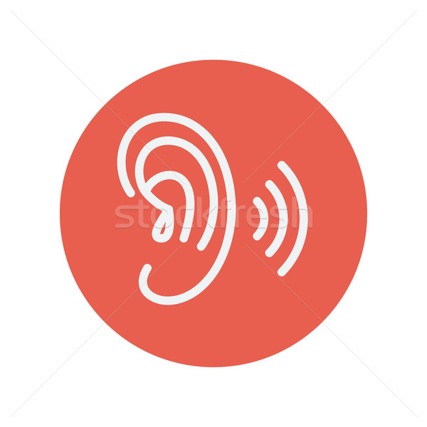 Ear thin line icon Stock photo © RAStudio