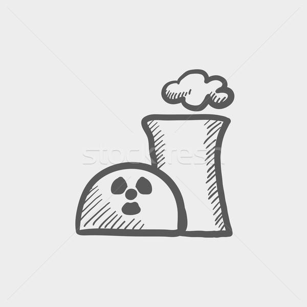 Сток-фото: экология · пропеллер · эскиз · икона · веб · мобильных