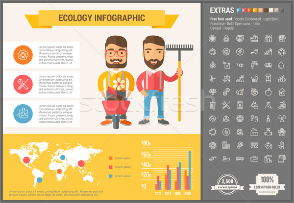 Stock photo: Ecology flat design Infographic Template