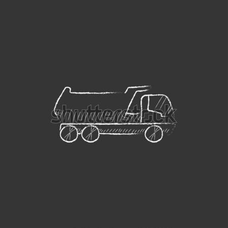 Machine with a crane icon drawn in chalk. Stock photo © RAStudio