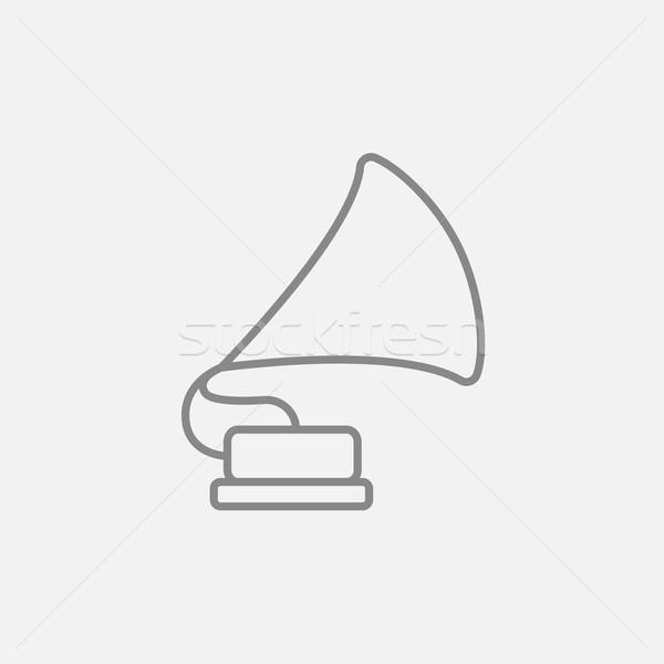 Gramófono línea icono web móviles infografía Foto stock © RAStudio