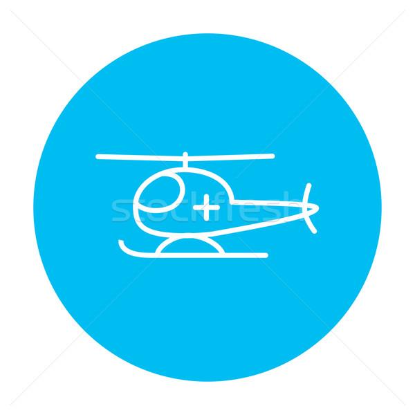 Powietrza pogotowia line ikona internetowych komórkowych Zdjęcia stock © RAStudio