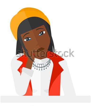 Jonge vrouw vrouw vector ontwerp illustratie Stockfoto © RAStudio