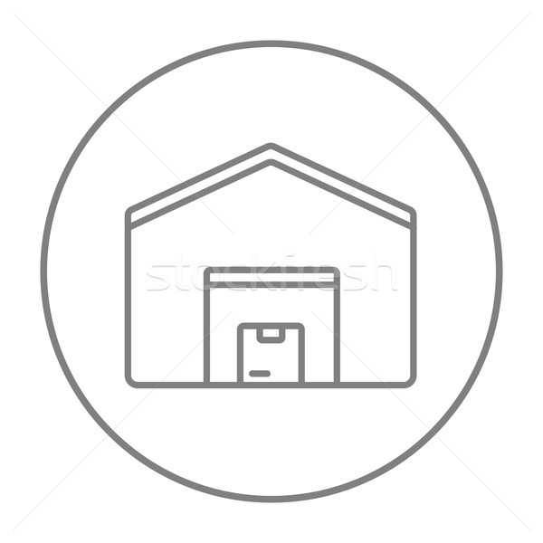 Warehouse line icon. Stock photo © RAStudio