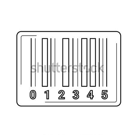 Barcode line icon. Stock photo © RAStudio