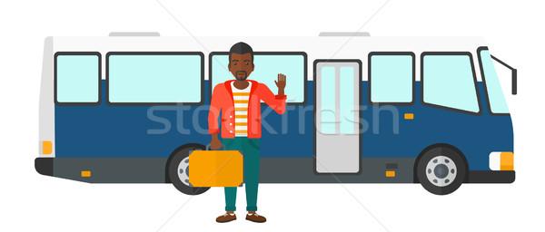 Man permanente bus entree deur vector Stockfoto © RAStudio