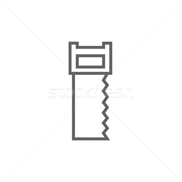 Văzut linie icoană colturi web mobil Imagine de stoc © RAStudio
