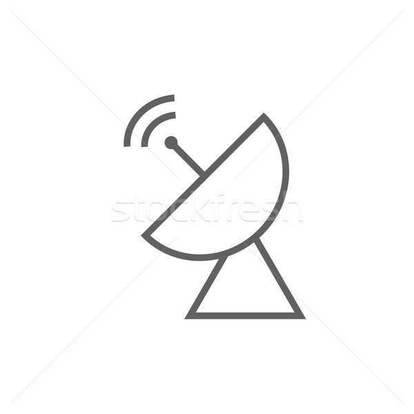 Radar antena satelitarna line ikona internetowych Zdjęcia stock © RAStudio