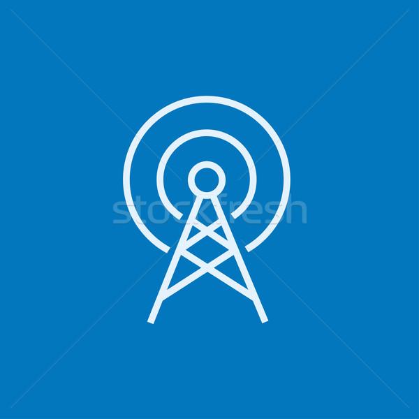 Antena línea icono esquinas web móviles Foto stock © RAStudio
