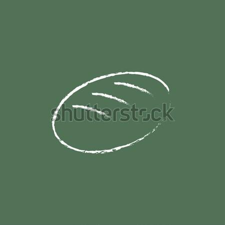 буханка линия икона уголки веб мобильных Сток-фото © RAStudio