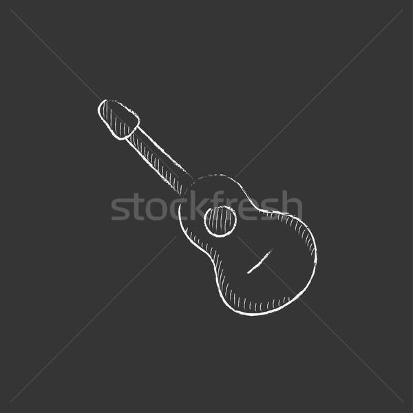 мелом икона рисованной вектора Сток-фото © RAStudio