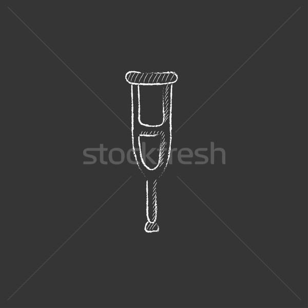松葉杖 チョーク アイコン 手描き ベクトル ストックフォト © RAStudio