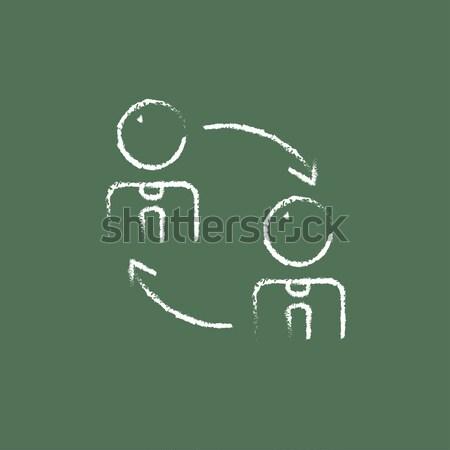 Staff turnover line icon. Stock photo © RAStudio