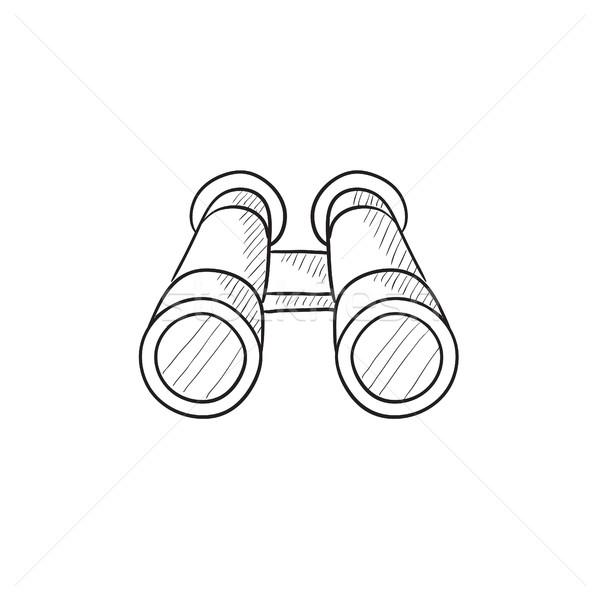 Binocular sketch icon. Stock photo © RAStudio