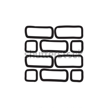 Brickwall sketch icon. Stock photo © RAStudio