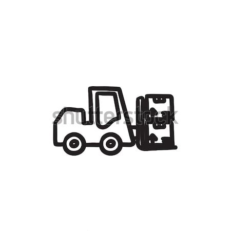 Forklift sketch icon. Stock photo © RAStudio