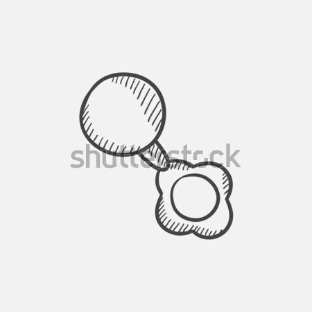 Baby rattle sketch icon. Stock photo © RAStudio