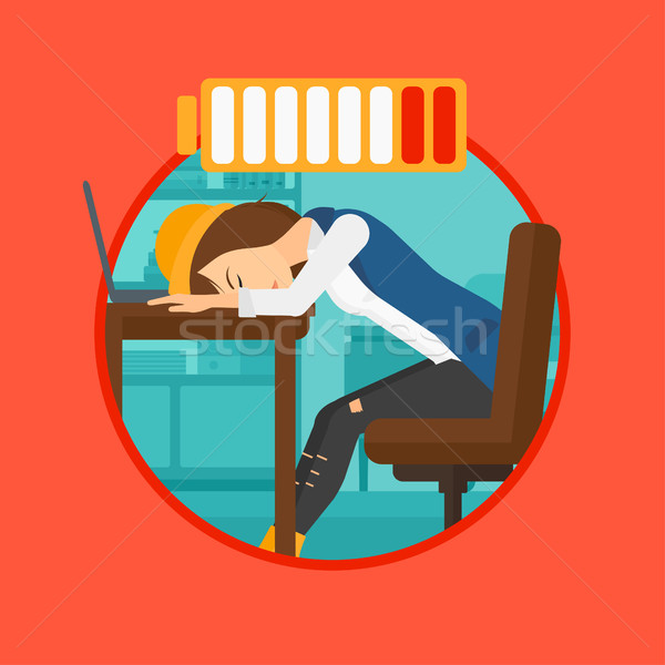 Woman sleeping at workplace. Stock photo © RAStudio