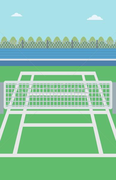 Quadra de tênis ao ar livre vetor projeto ilustração arena Foto stock © RAStudio