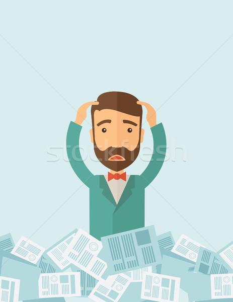 Man have a lot of work Stock photo © RAStudio