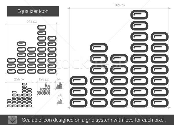 Ekolayzer hat ikon vektör yalıtılmış beyaz Stok fotoğraf © RAStudio