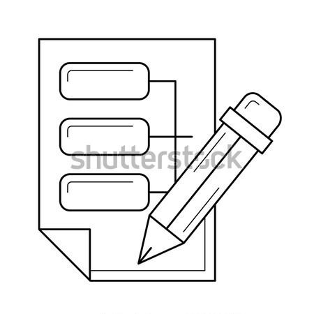 Data architecture line icon. Stock photo © RAStudio