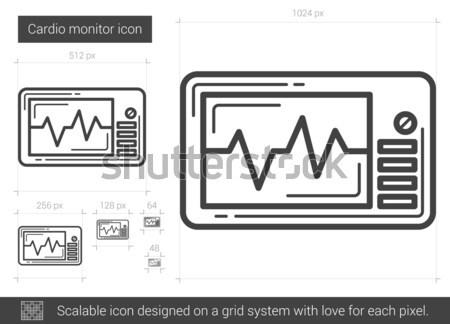Cardio suivre ligne icône vecteur isolé Photo stock © RAStudio