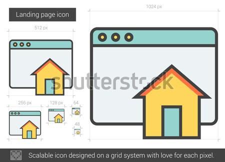 Sayfası hat ikon vektör yalıtılmış beyaz Stok fotoğraf © RAStudio