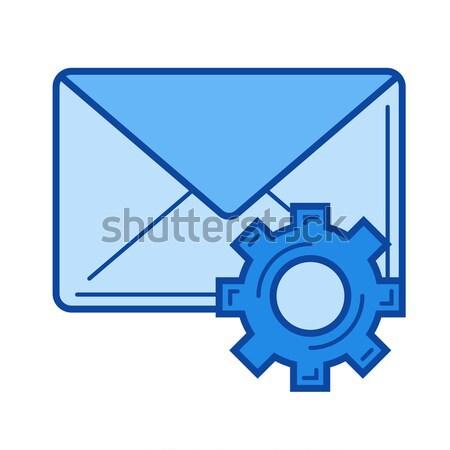 E-Mail Einstellungen line Symbol Vektor isoliert Stock foto © RAStudio