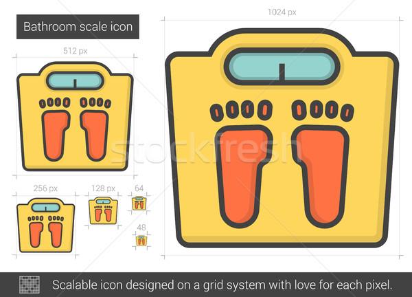 Bathroom scale line icon. Stock photo © RAStudio
