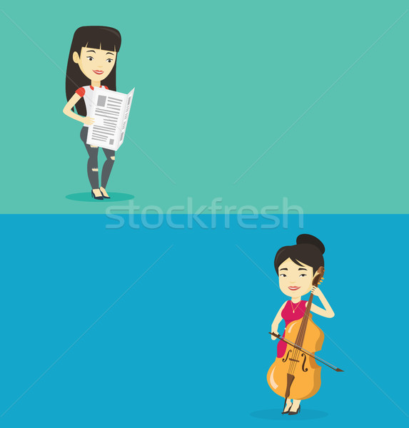 Two media banners with space for text. Stock photo © RAStudio