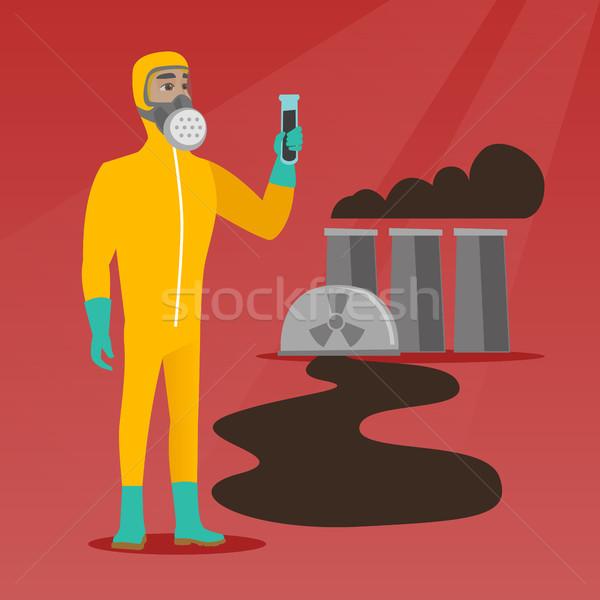 человека излучение костюм пробирку кавказский Сток-фото © RAStudio