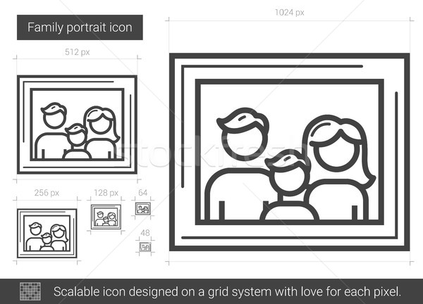 Family portrait line icon. Stock photo © RAStudio