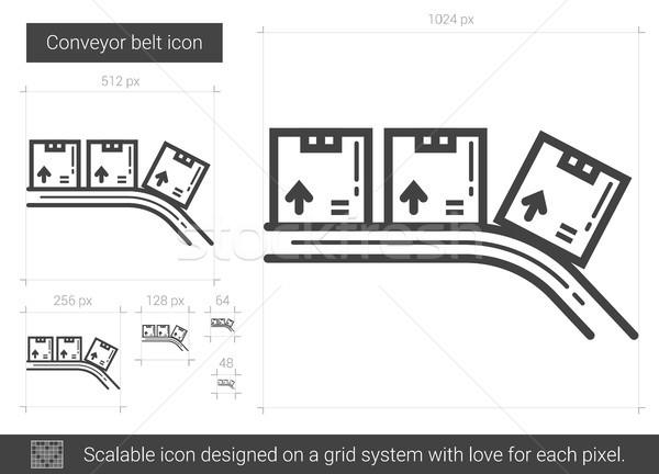 Gürtel line Symbol Vektor isoliert weiß Stock foto © RAStudio
