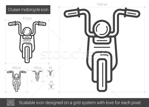 クルーザー オートバイ 行 アイコン ベクトル 孤立した ストックフォト © RAStudio